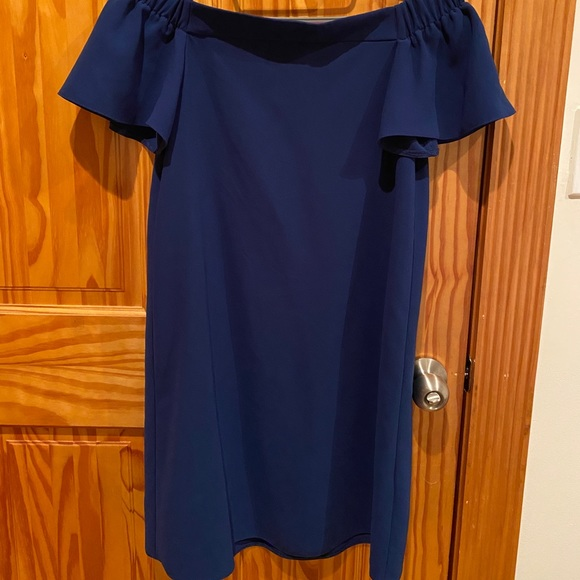 Topshop Dresses & Skirts - Off the shoulder blue dress